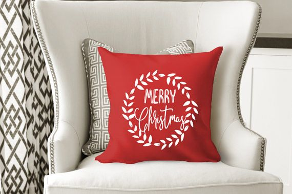 christmas pillow throw pillow cover modern farmhouse