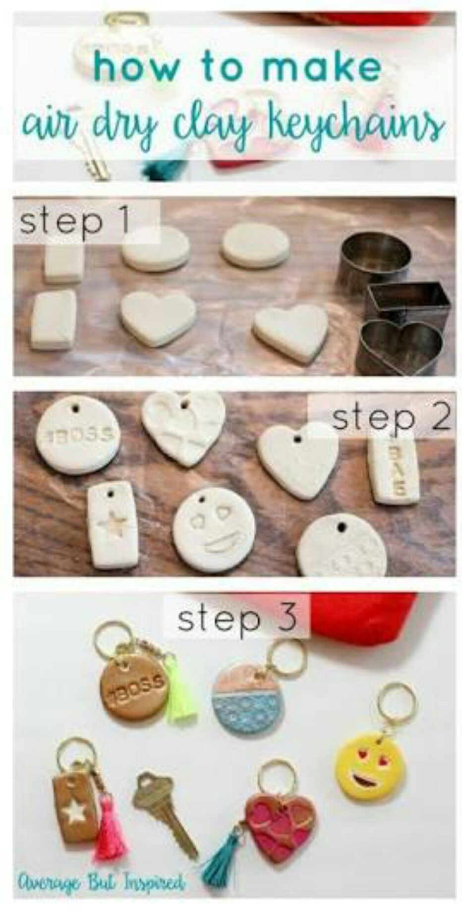 These take a little bit of effort but are really cute key chains…