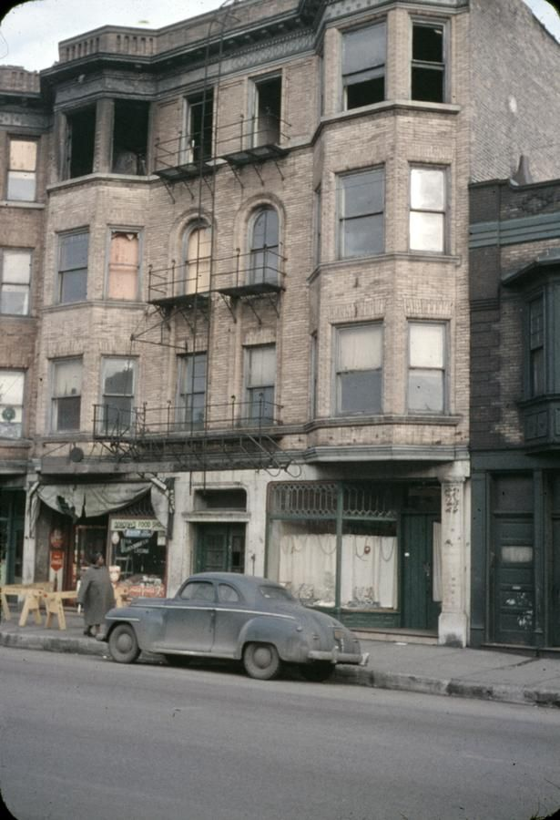Description Storefront Clearance In A Building That Burned Photographer Mead Mildred Photograph Date 1955 Chicago Pictures Chicago Architecture Chicago City