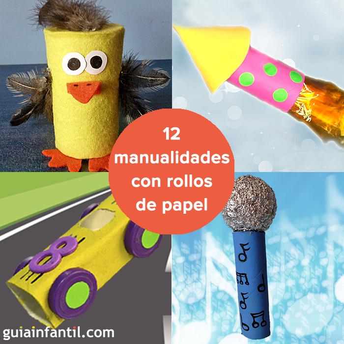 Con los rollos de papel puedes hacer un mont n de - Manualidades con rollos de papel ...