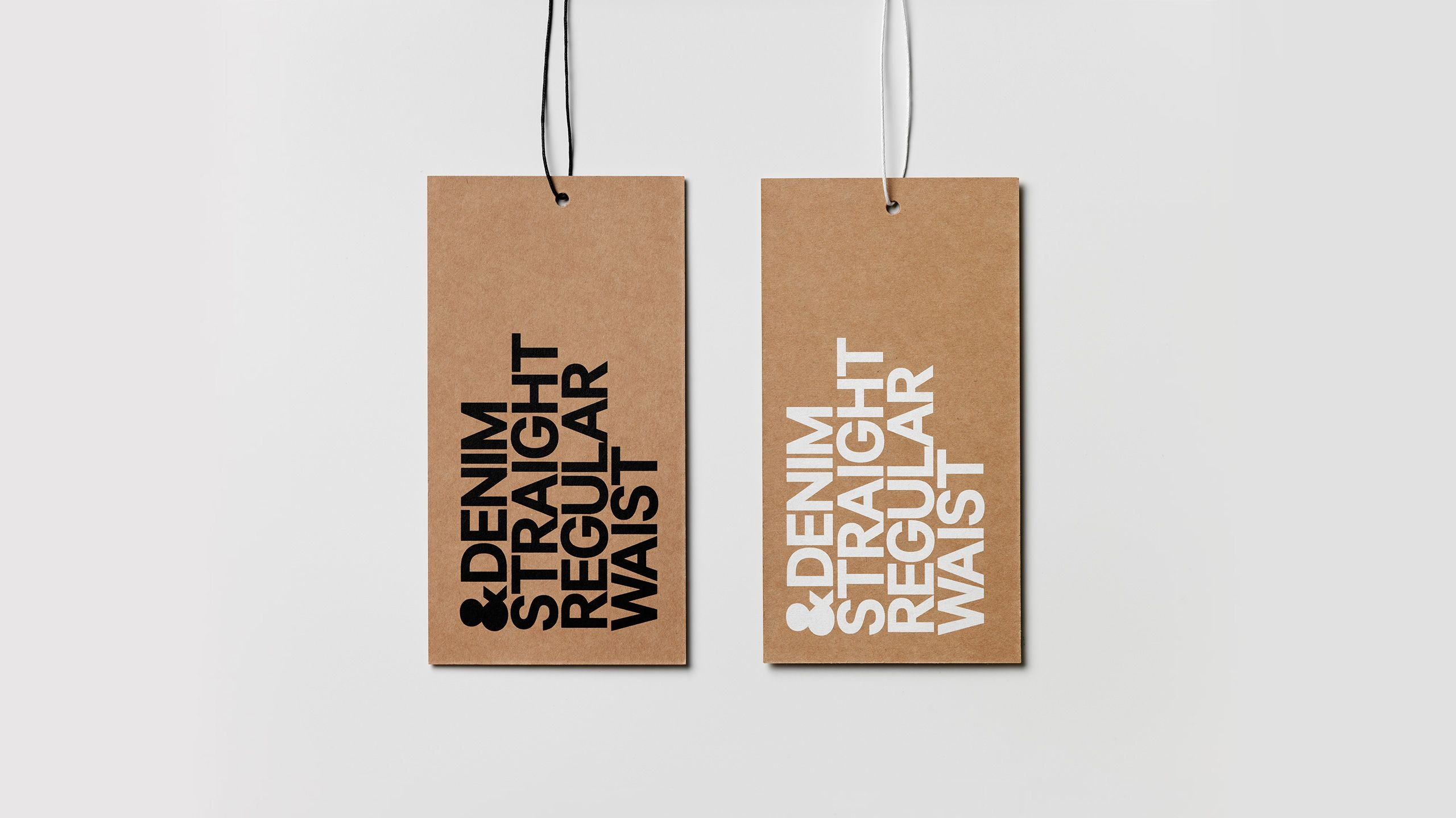 H&M &Denim tags designed by The Studio.