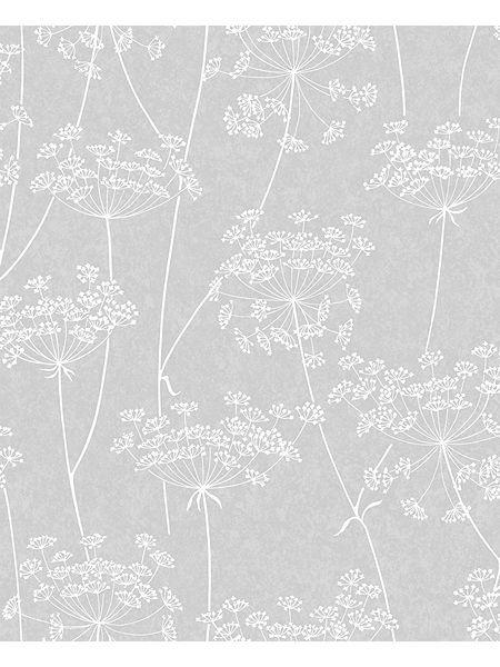 Grey Aura Wallpaper White And Silver Wallpaper Grey Wallpaper Floral Wallpaper