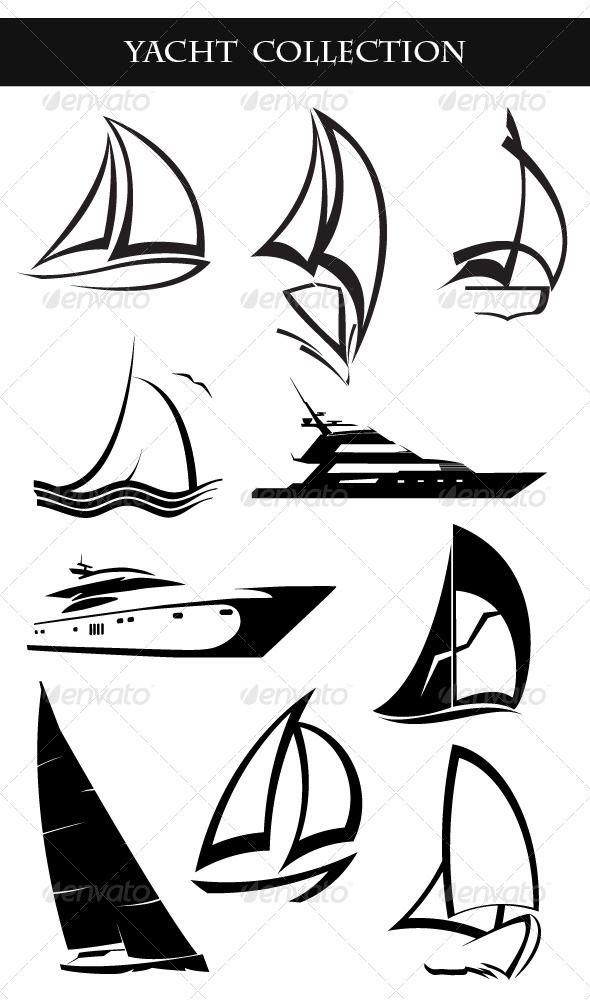 Yacht Collection Sailboat Art Sailboat Tattoo Sailing Art