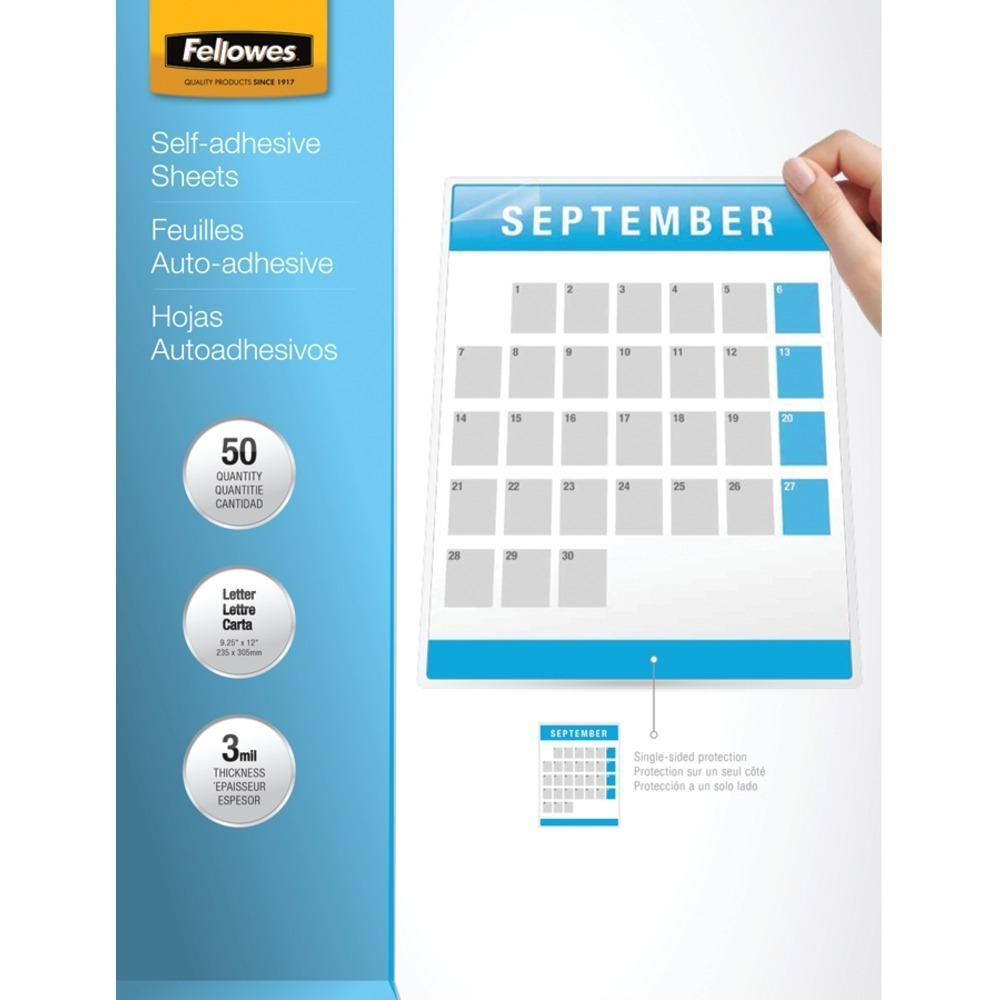 Fellowes R 5221502 9 X 12 Self Adhesive Laminating Sheets 50 Pk Adhesive Lettering Craft Supplies Online