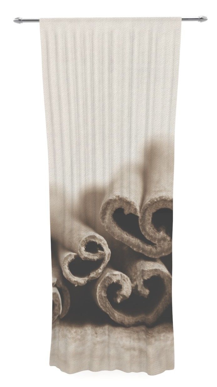 Cinnamon Sepia by Iris Lehnhardt Sheer Curtain Panel