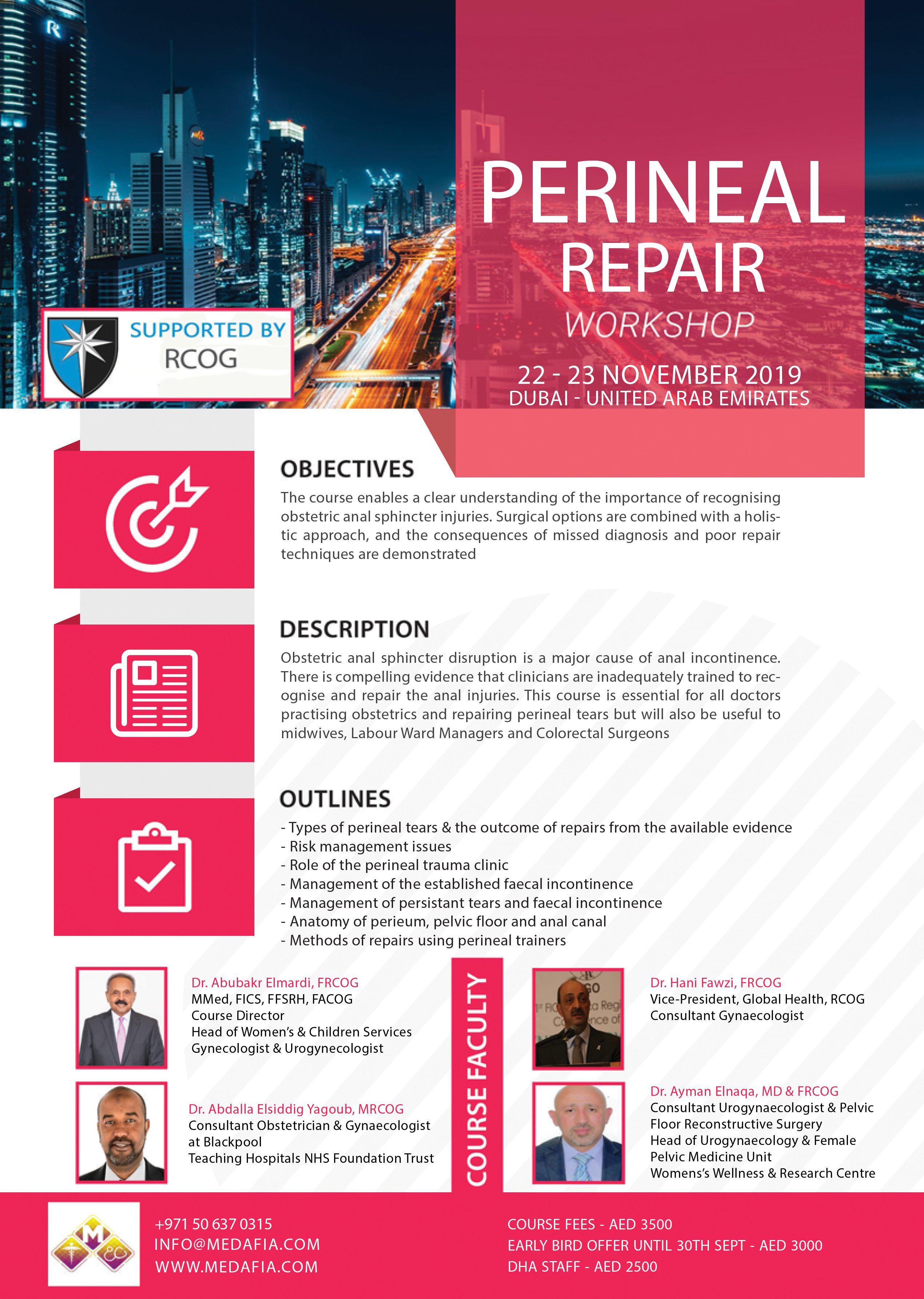 Perineal Repair Workshop By Rcog Medafia Repair Workshop