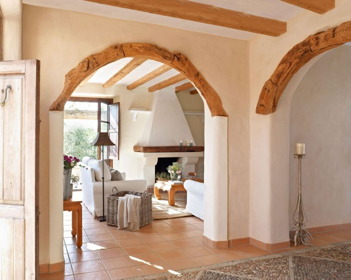 Superbe Wooden Arch Design For Living Room