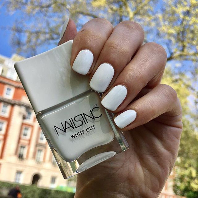Sunshine calls for brilliant white nails ☀ Get the look with ...