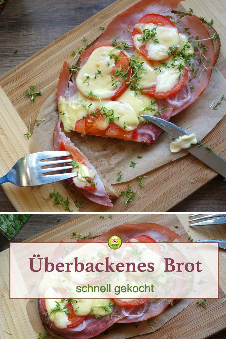 Überbackenes Brot mit Schinken und Tomaten - MeineStube