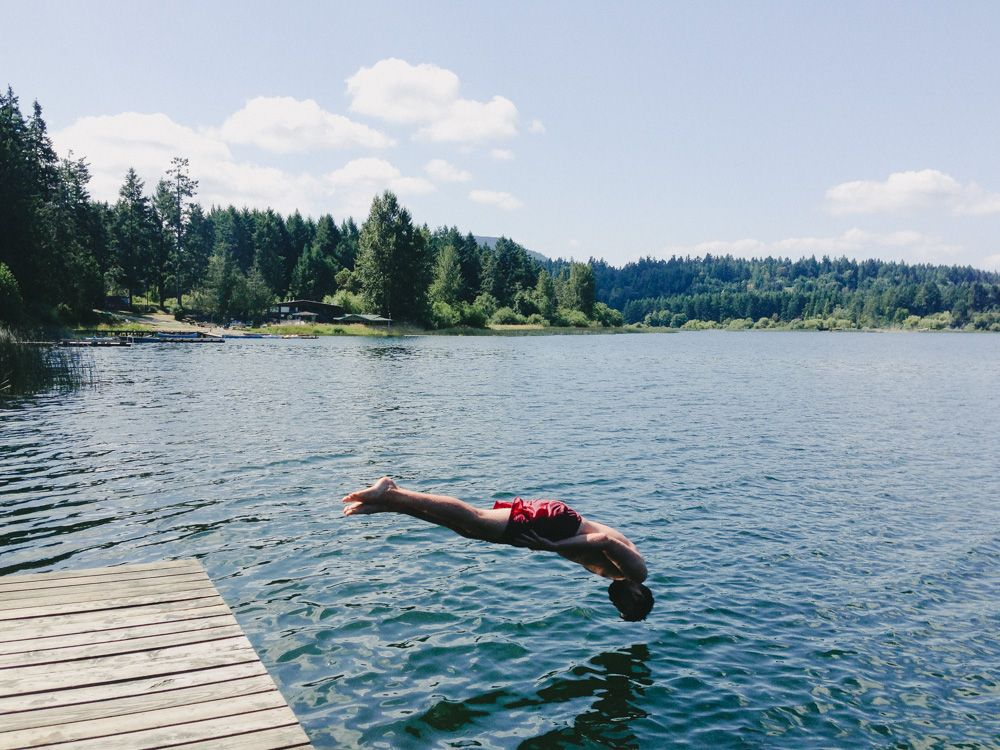 Swimming In St Mary 39 S Lake Saltspring North American Places To Travel