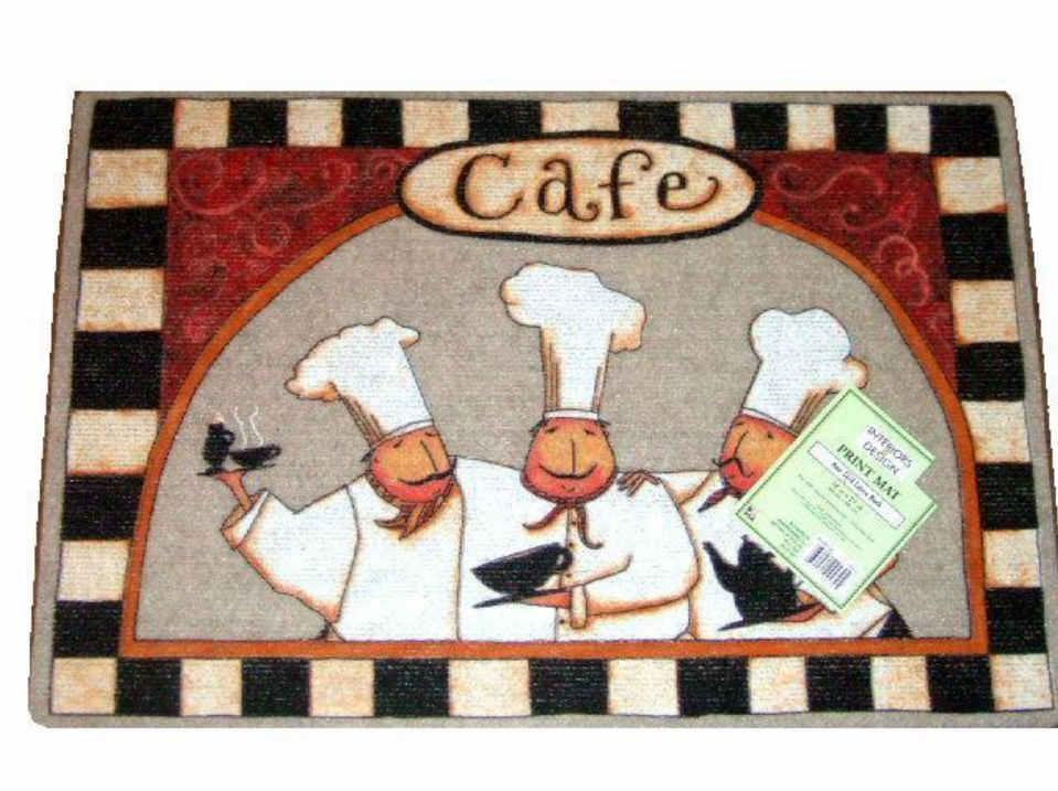 What A Delightful Kitchen Rug For Your Fat Chef Themed