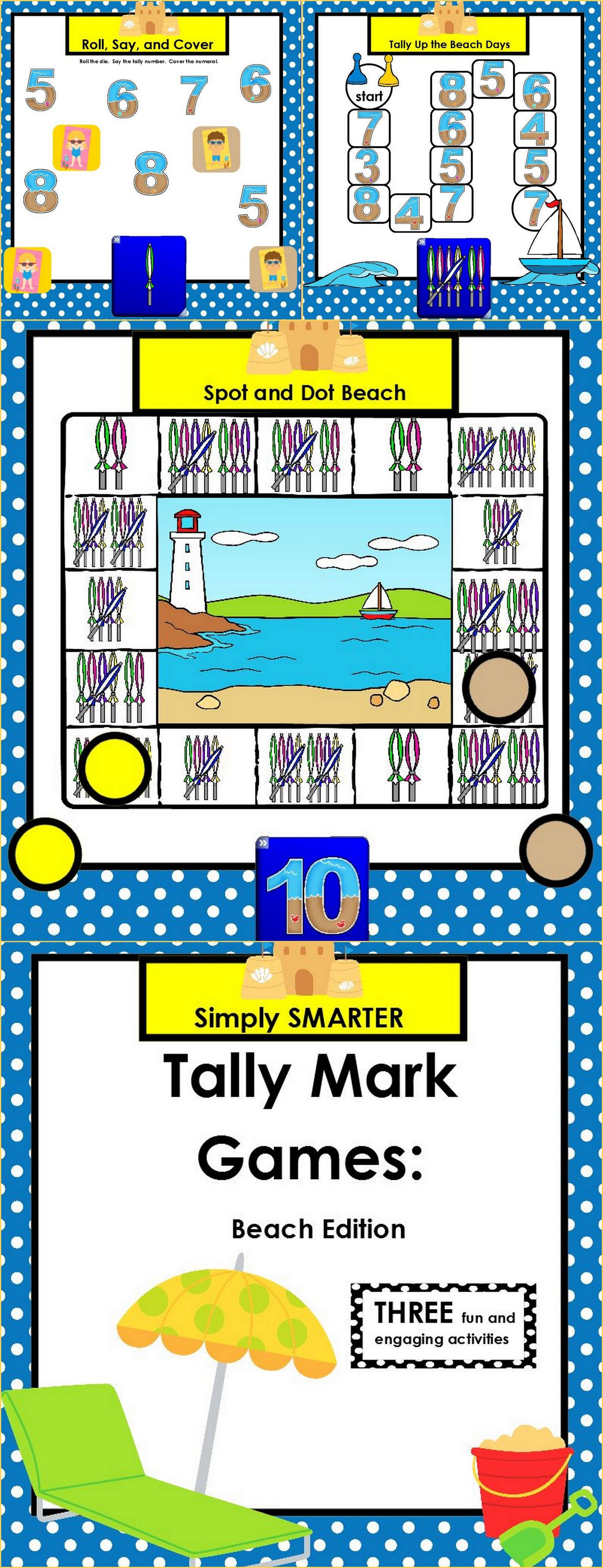 Smartboard Tally Mark Games Beach Edition