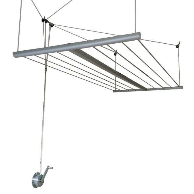 Tendedero colgante de techo a manivela para tender la ropa - Poleas para tendederos ...