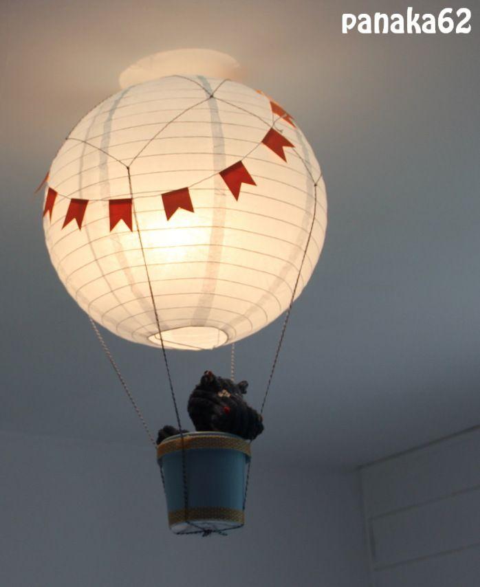 abat jour montgolfi re tuto chambre dormitorio bebe. Black Bedroom Furniture Sets. Home Design Ideas