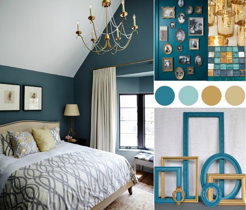 Chambre Bleu Canard Or Idees Decoration Inspiration Palette