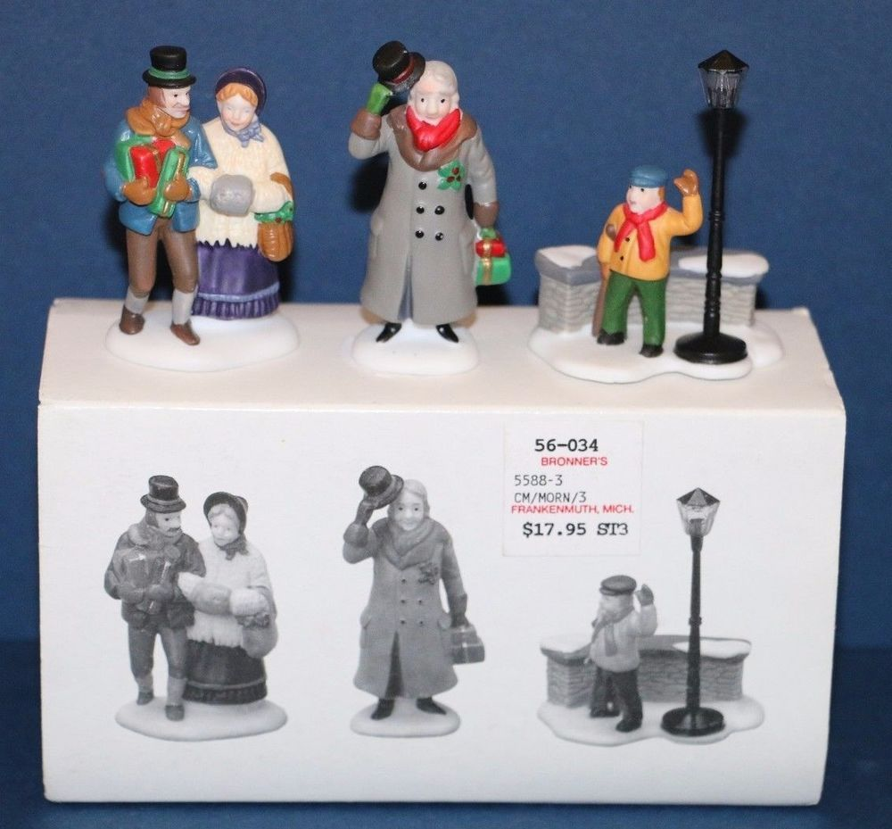 Heritage Village Collection A Christmas Carol Morning set of 3 5588-3