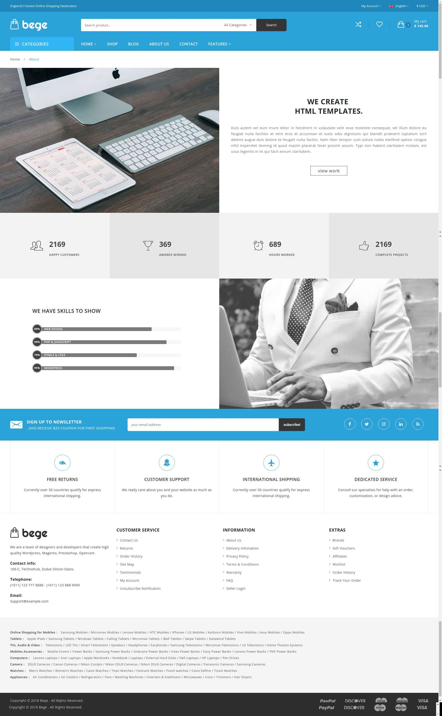 Bege Ecommerce Bootstrap Template Shopping Shopping Bootstrap