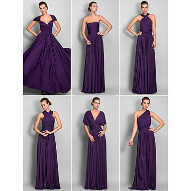 89 99 A Line Floor Length Jersey Bridesmaid Dress With Criss Cross Pleats Convertible Dress Cheap Bridesmaid Dresses Convertible Dress Bridesmaid Dresses Online