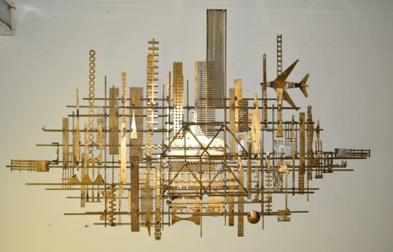 William Bowie New York Cityscape Metal Wall Art Aug 16 2015 Neely Auction In Fl New York Cityscape Metal Wall Art Metal Walls