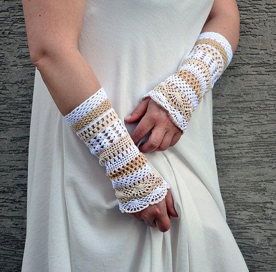 Jasmine  crocheted open work lacy romantic by hypericumfragile