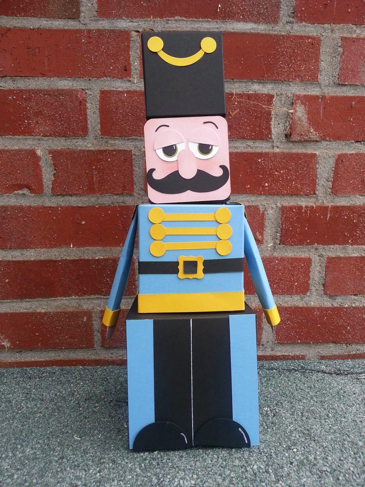 3D Christmas Nutcracker Soldier Guard Cracker Boxes On Craftsuprint Designed