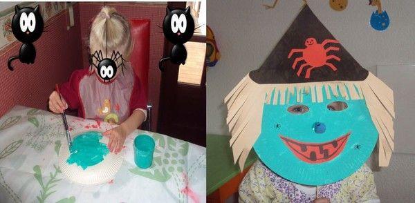 masque de sorci re par lison 2 ans et demi activit s. Black Bedroom Furniture Sets. Home Design Ideas