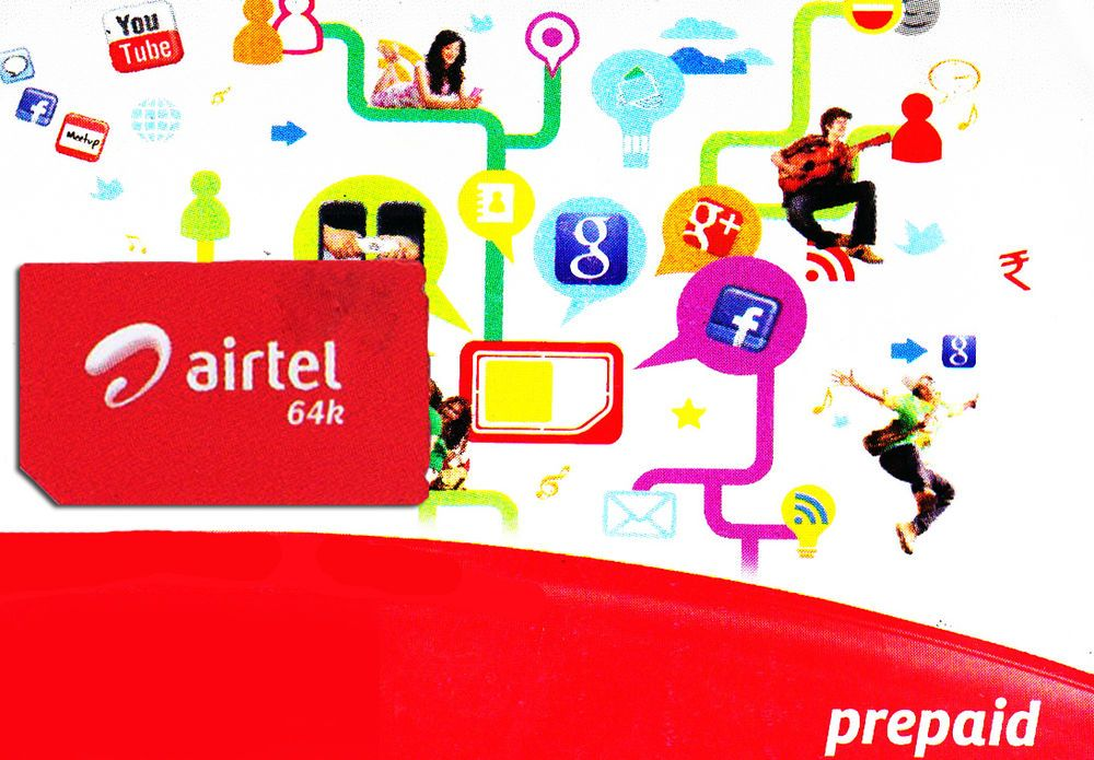 Details about India Airtel Prepaid Local SIM Card with 1GB