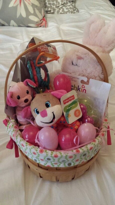 Babys first easter basket easter basket for baby girl babys first easter basket easter basket for baby girl negle Choice Image