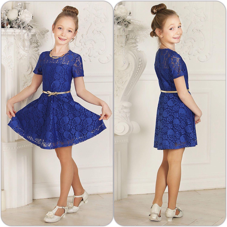 Купить платье из кружева для девочки