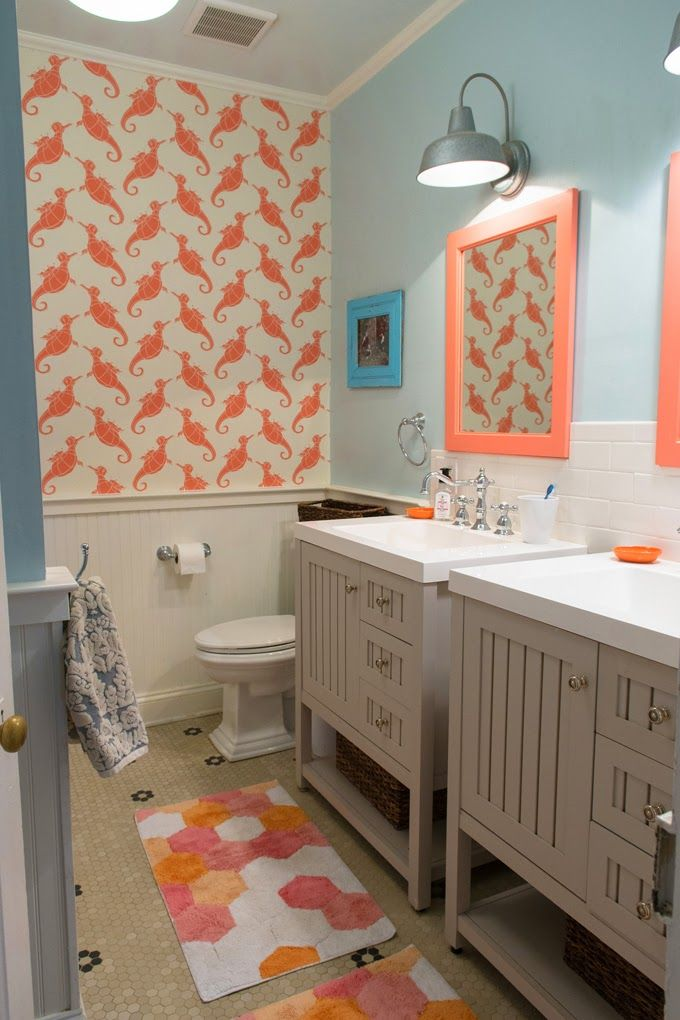 Lesli Devito House Of Turquoise Light Blue Bathroom Bathroom Color