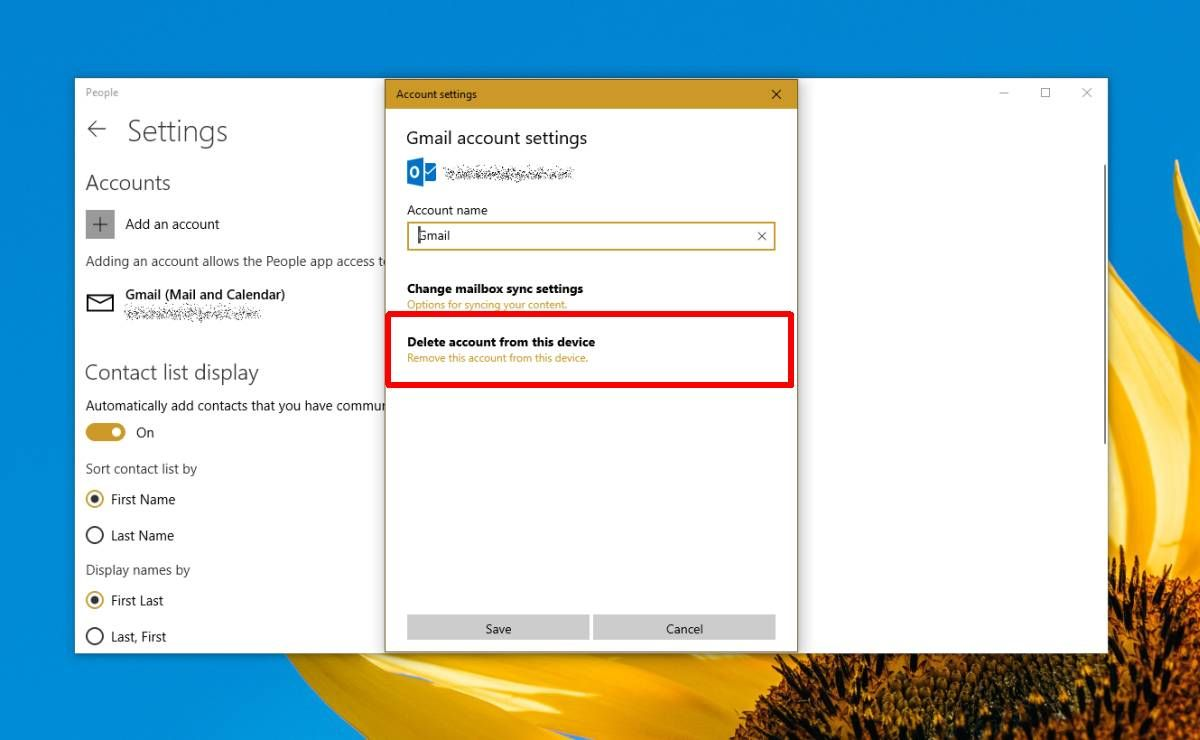 How to delete accounts from the People app on Windows 10 ...