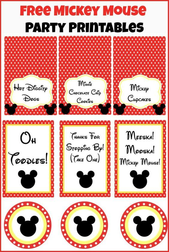 graphic about Free Printable Mickey Mouse Signs identified as Free of charge Mickey Mouse celebration printables in opposition to