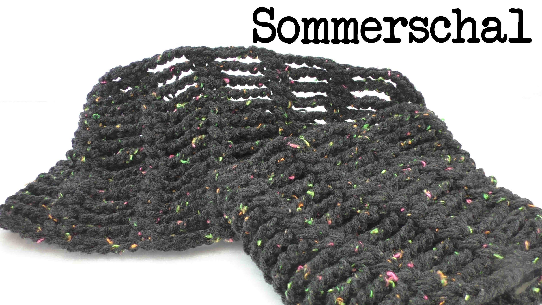 Sommer Schal Mit Luftmaschen Ketten Ganz Leicht Schnell Gemacht