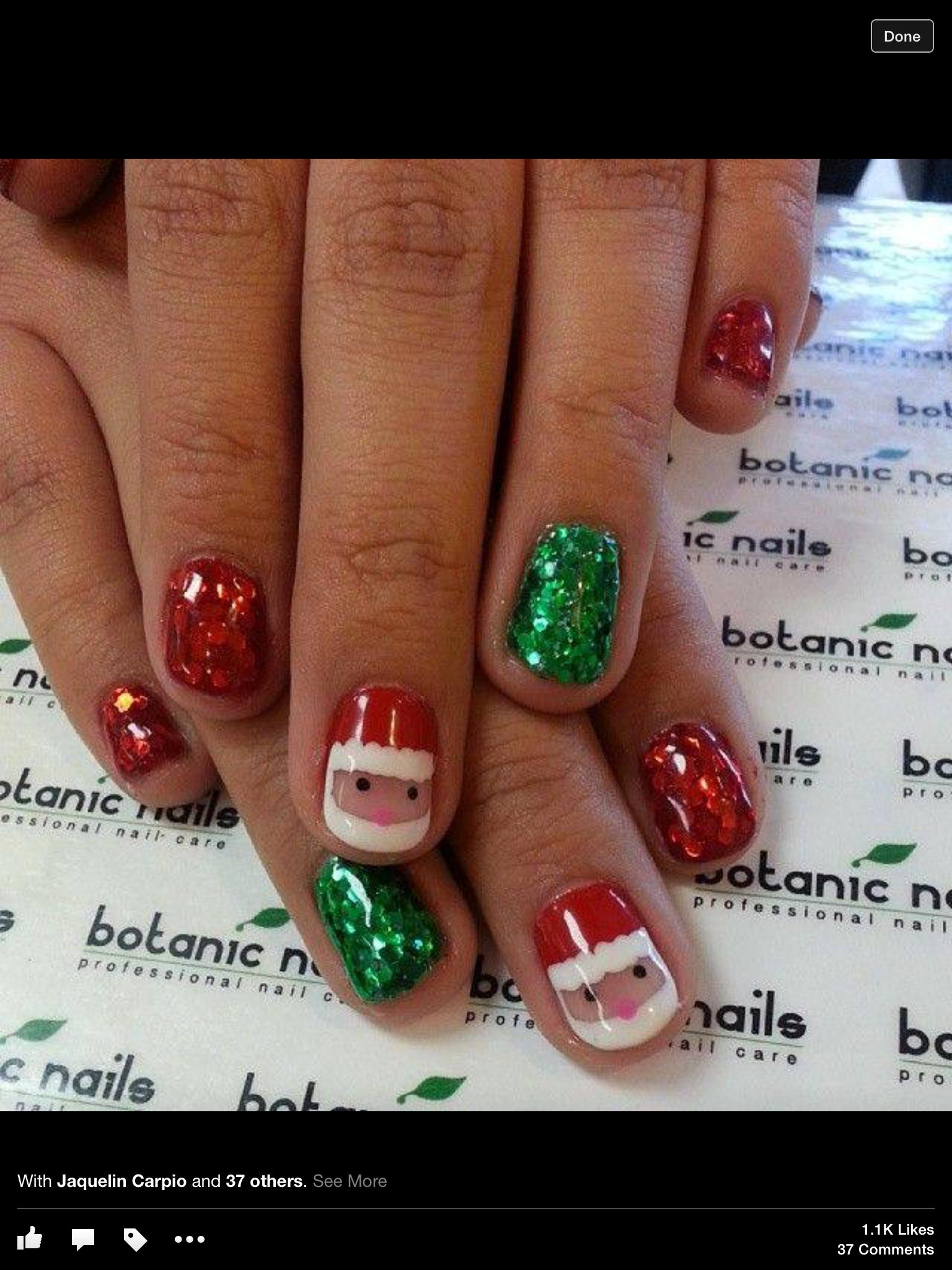 Pin by Elizabeth Walkonis on Nails | Pinterest | Xmas nails, Nail ...