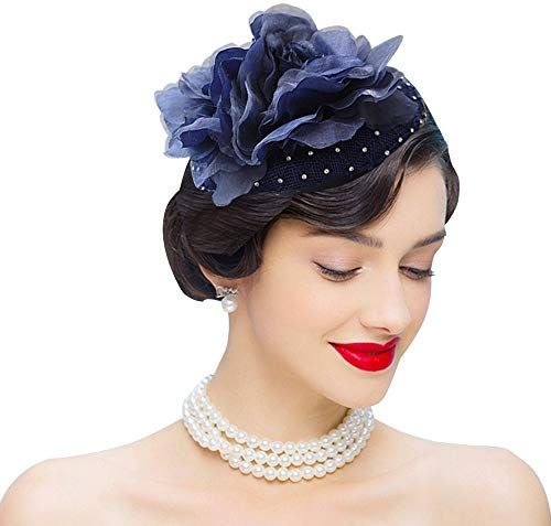 Best Seller Edith qi Fascinators Headband Flower Pillbox Hat Hair Hoop Wedding Headpiece Women online - Thetophitsseller