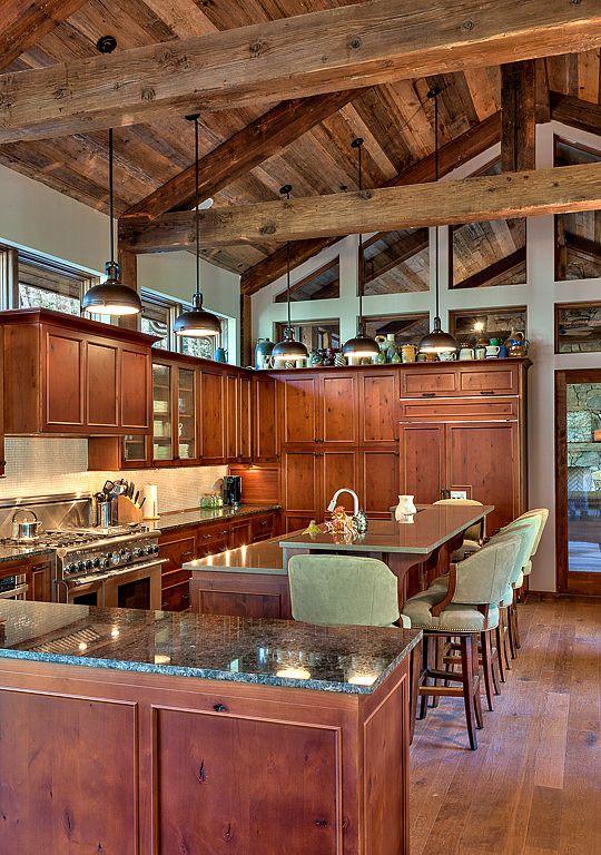 Bridge House By Platt Architecture Homeadore Rustic Kitchen Home Kitchens Kitchen Interior