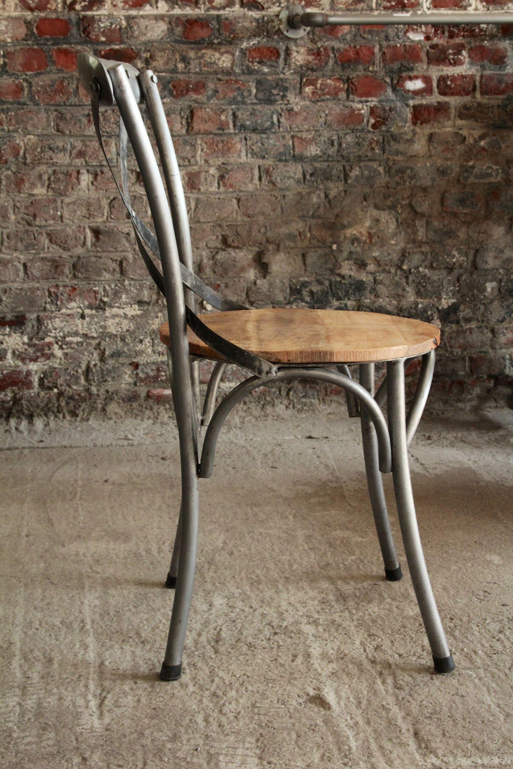 Chaise bistrot industrielle bois et métal …