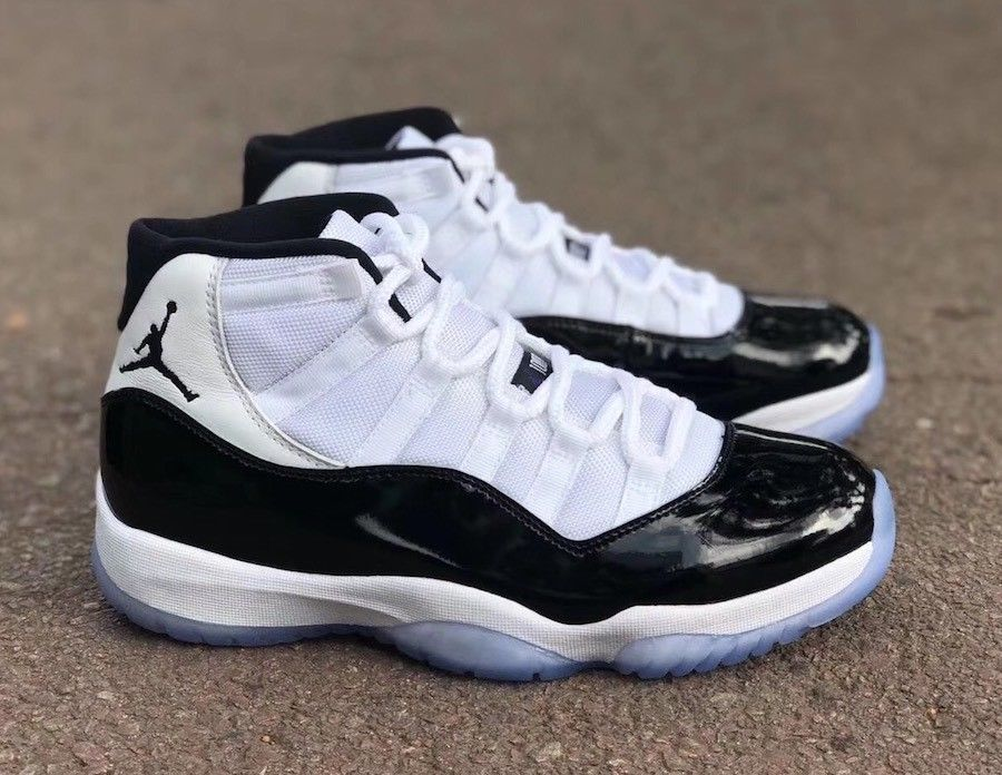 Nike Air Jordan Retro XI 11 Concord 2018 Mens Kids Size 7 Black White NEW b9f68d0299e0