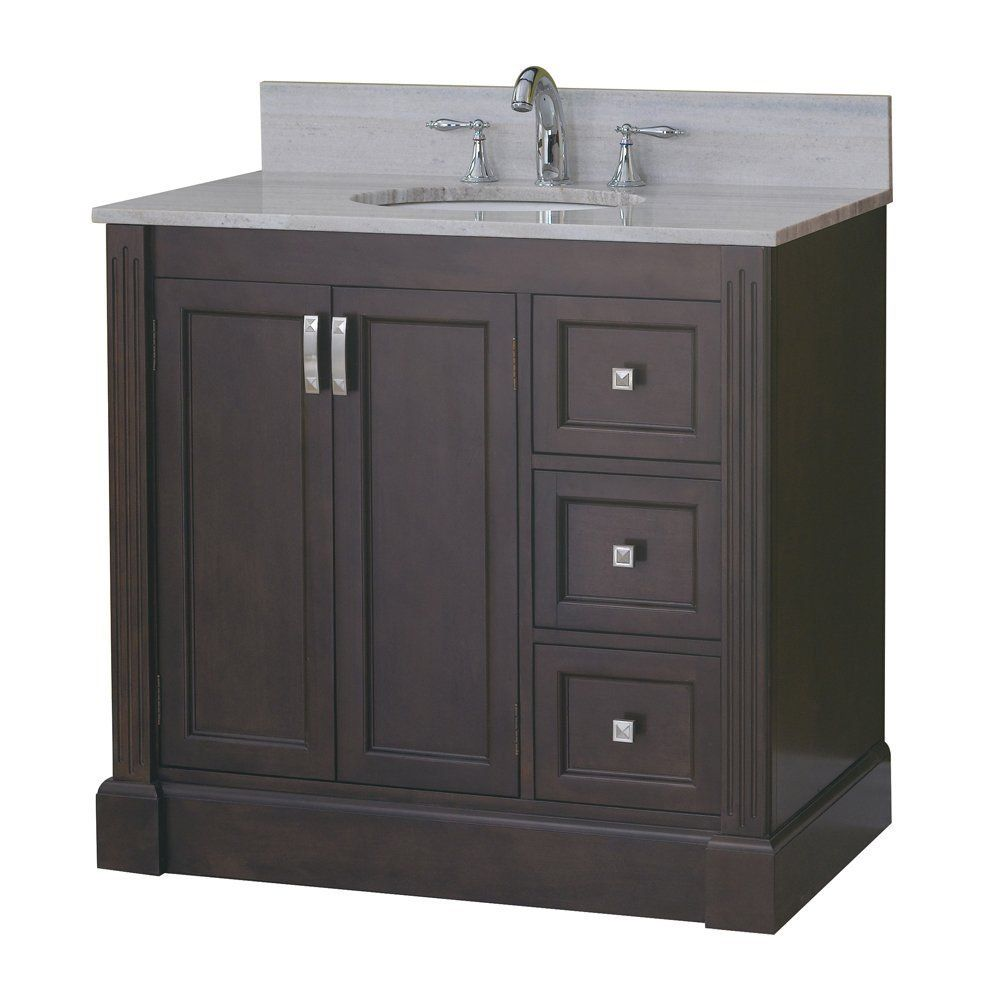Best Allen Roth 37 In Espresso Kingsway Traditional Bath 400 x 300