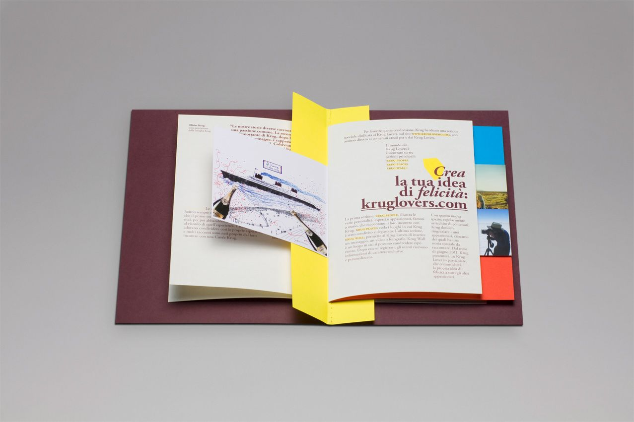 """Press Dossier showcasing the new 'Krug Lovers' campaign """"Create your own ver..."""