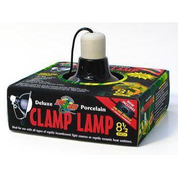 "Clamp lamp W/porcelain Socket 8.5"" (black) (LF12"