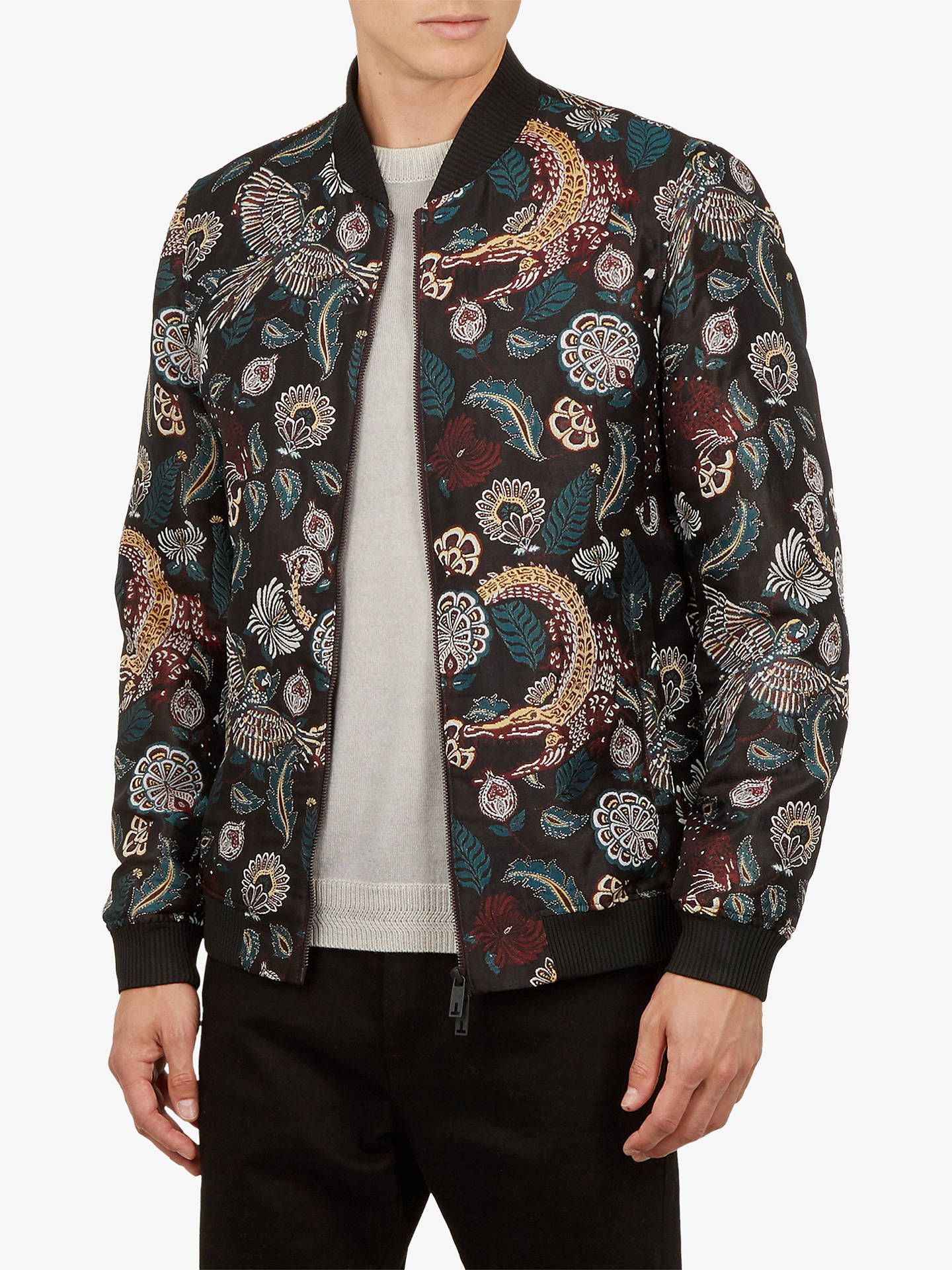 Ted Baker Queso Tiger Bomber Jacket Dark Red Bomber Jacket Fashion Jackets [ 1920 x 1440 Pixel ]