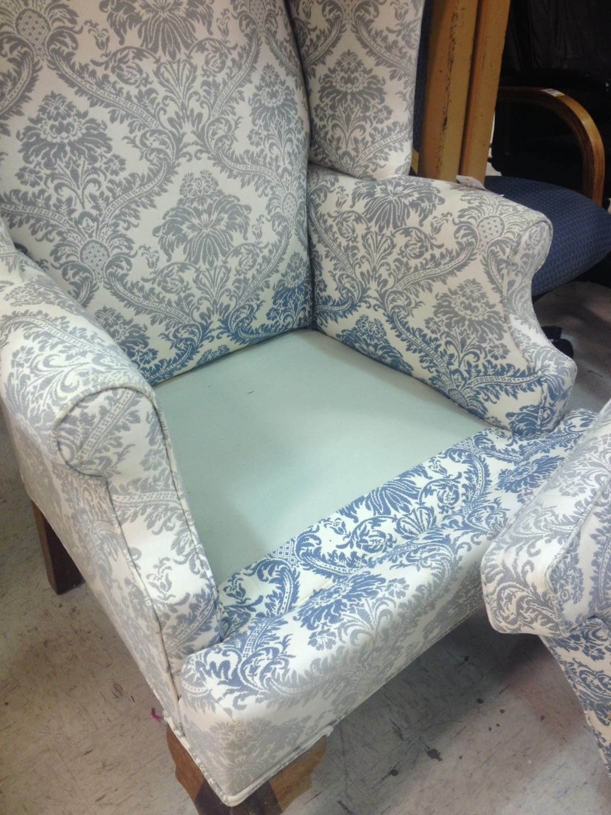 How to Reupholster a Wingback Chair A StepbyStep