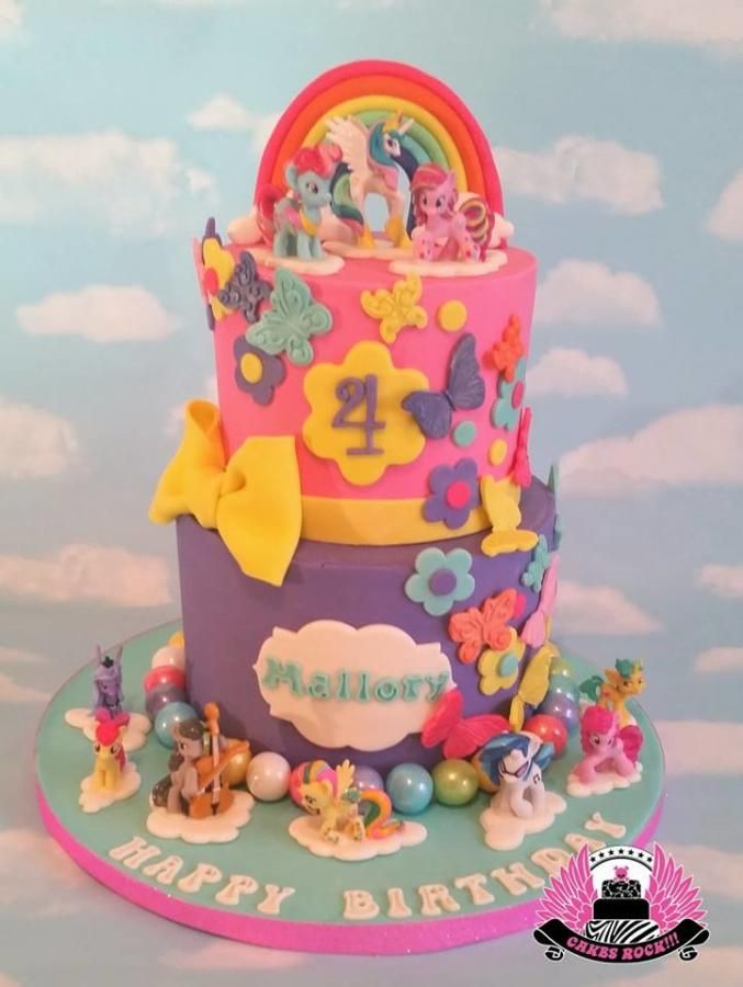 My Little Pony Birthday Cake Cake by Cakes ROCK My Little