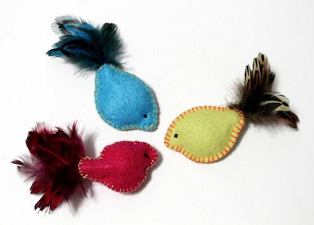 DIY Felt & Feather Cat Toys
