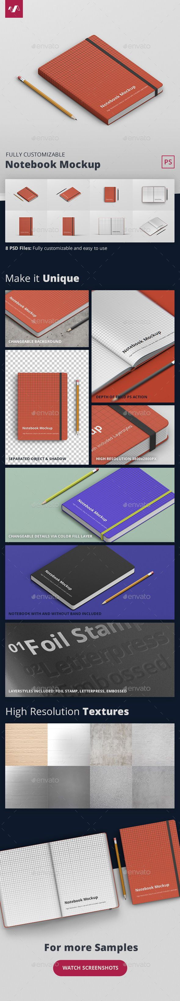 Notebook Mockup Free update
