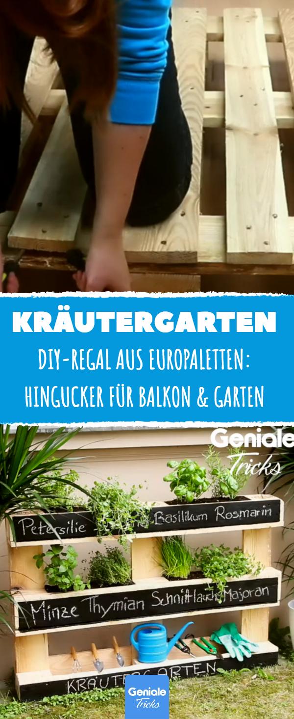 Mit diesem einfachen Projekt zauberst du dir einen echten Hingucker für deinen Balkon oder deinen Garten. #kräutergartenbalkon