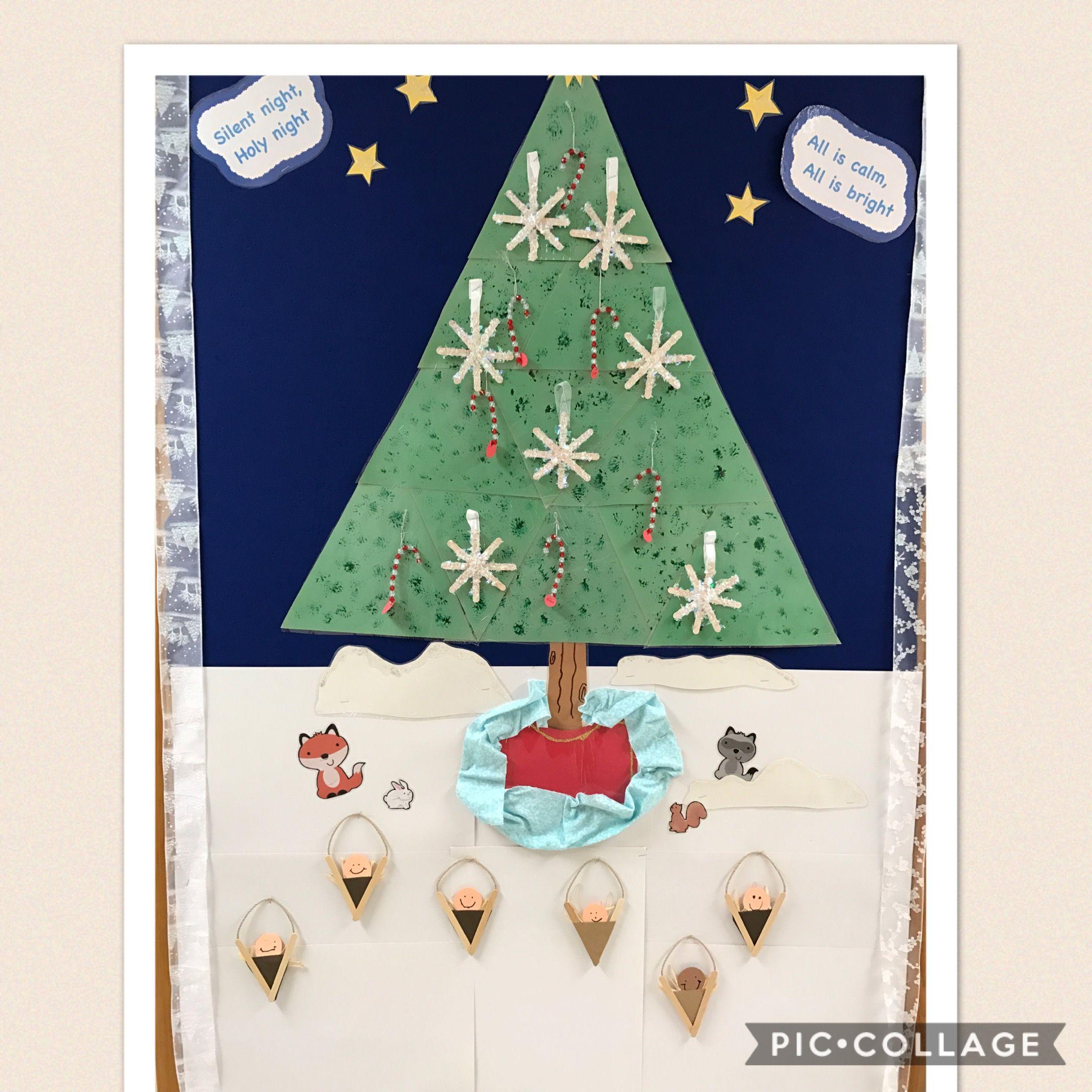 Christmas Preschool Bulletin Board Christmas Tree Baby