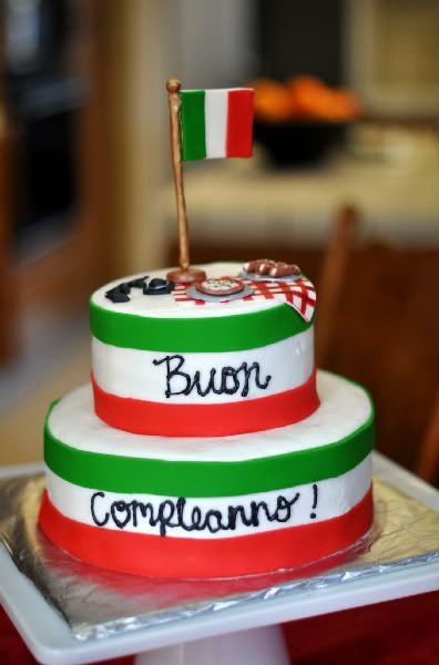 Admirable Italian Birthday Cakes With Images Happy Birthday Italian Personalised Birthday Cards Beptaeletsinfo