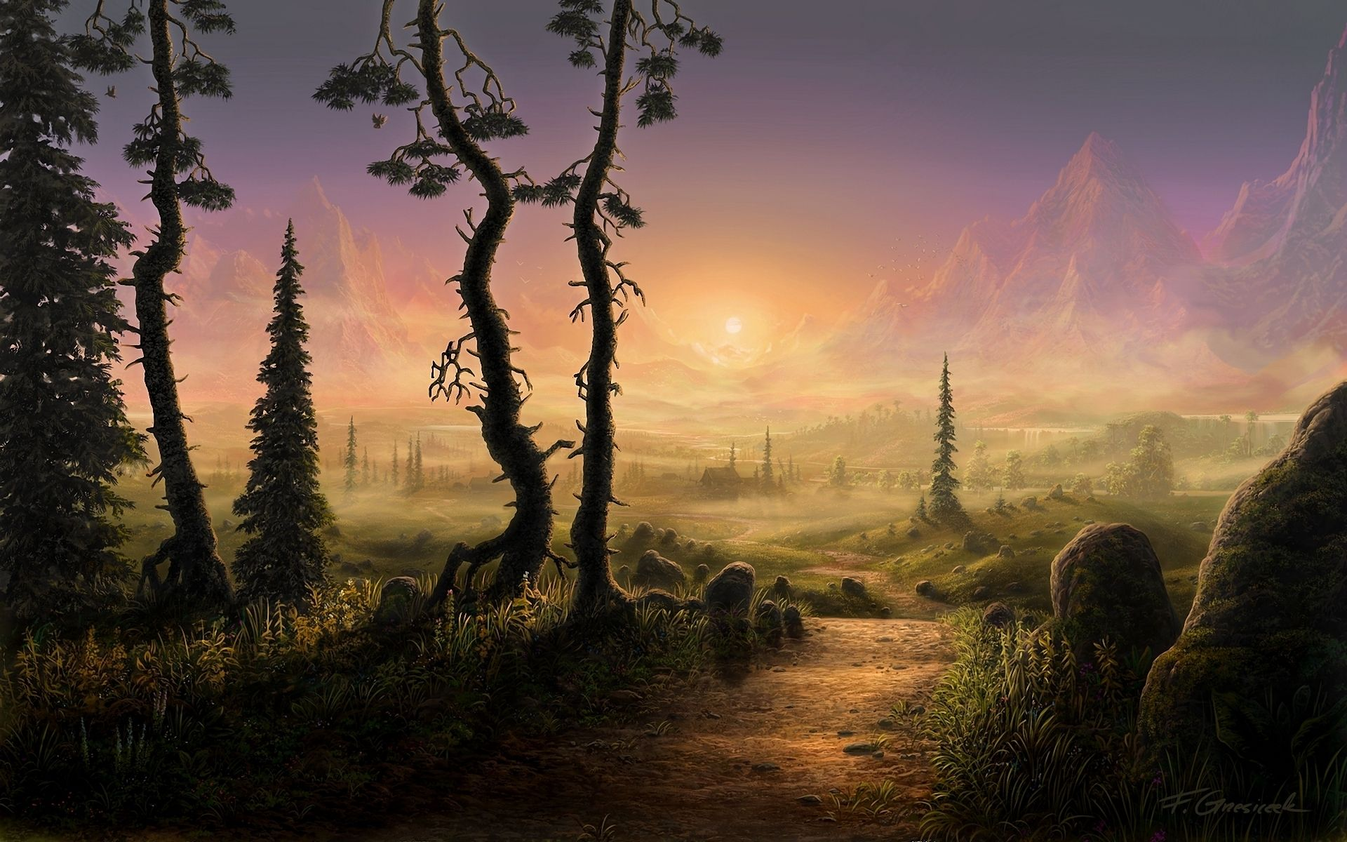 fantasy - landscape - fantasy - artistic - 4k - ultrahd - hd